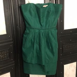 J Crew Leighton Peplum Strapless Dress